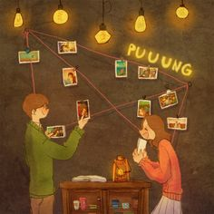 Fall in love with the person who enjoys your madness, not an idiot who forces you to be normal. photo credits to : Puuung Cute Couple Art, Sweet Couple, Couple Pics, Couples Comics, Anime Couples, Love Is Sweet, What Is Love, Puuung Love Is, Future Love