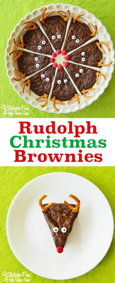 So cute! Love these easy Rudolph the Red Nose Reindeer Brownies. A perfect Christmas holiday party desser So cute! Love these easy Rudolph the Red Nose Reindeer Brownies. A perfect Christmas holiday party dessert for chocolate lovers. Christmas Party Food, Xmas Food, Christmas Sweets, Christmas Cooking, Christmas Goodies, Christmas Holidays, Rudolph Christmas, Christmas Cupcakes, Dessert For Christmas Party