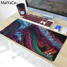 Wolf Rubber Gaming Mouse Pad Mat For Pc Laptop Computer Large Size 900*400mm For Game Internet Bar Cs Mouse Pads