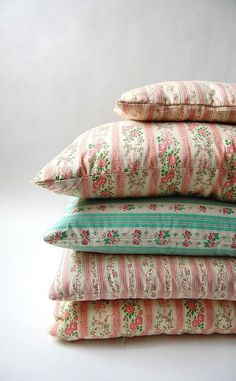 Floral ticking fabric Textile Spotlight: The Ticking Trend