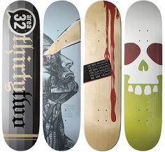 area32 fundraiser decks | These are some skateboard decks th… | Flickr