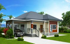 3 Bedroom Contemporary House Plans New Miranda Elevated 3 Bedroom with 2 Bathroom Modern House Green House Design, Simple House Design, House Front Design, Modern House Interior Design, Simple Interior, Contemporary House Plans, Modern House Plans, Small House Plans, Contemporary Architecture