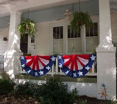 Celebrate and show support with this single-sided, Americana-inspired bunting made to hang from porches, windows or deck railings. Patriotic Bunting, Blue Bunting, Boat Parade, Seasonal Decor, Holiday Decor, American Spirit, God Bless America, Independence Day, Fourth Of July
