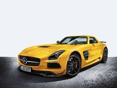 O esportivo Mercedes Benz SLS AMG Black Series, que acelera de 0 a 100 km/h em apenas 3,6 segundos.