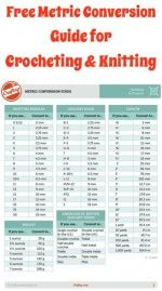 FREE Metric Conversion Guide for Crocheting and Knitting