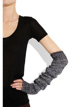 Wool-blend arm warmers.