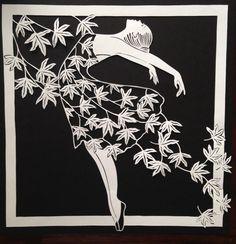 Original paper cut dancing with the wind