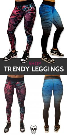 It's like getting two pairs of leggings in one! These leggings are reversible, giving you two designs to choose from every time you work out. Find trendy leggings, tanks, sports bras and more at constantlyvariedgear.com.