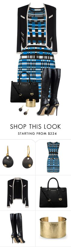 """12/22/15"" by tararanee ❤ liked on Polyvore featuring Sara Weinstock, Mary Katrantzou, Balmain, MICHAEL Michael Kors and Blue Nile"