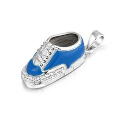 Bling Jewelry 925 Silver Enamel Blue Boy Sneaker Baby Shoe Charm Pendant -- Check out this great product. (This is an affiliate link and I receive a commission for the sales)