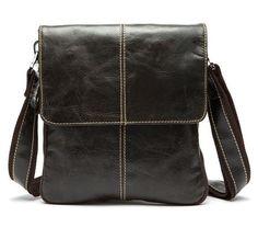 Fashion 100% Genuine Leather Bag High quality Natural Cowskin men messenger bags Vintage shoulder crossbody bag New 2017