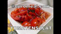 Tomatensalat, einfach der beste, fruchtigste Salat - euromeal.com Salsa, Stuffed Peppers, Vegetables, Ethnic Recipes, Food, Cooking, Stuffed Pepper, Good Food, Vegetable Recipes