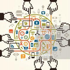 Vector Art : Online Global Health Care