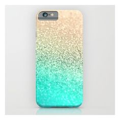 Gold Aqua iPhone 6s Case ($35) ❤ liked on Polyvore featuring accessories, tech accessories, phone case and iphone & ipod cases