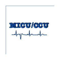 MICU-CCU - utmb Health embroidery design - custom design for DJBM - custom embroidery design by LLHembroidery on Etsy