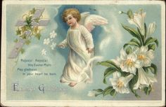 Easter Angel – Unsigned Ellen Clapsaddle c1910 Postcard