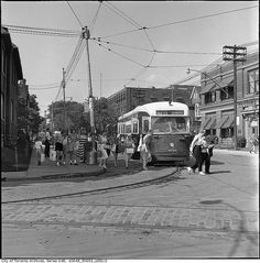 Streetcar to the CNE, Toronto, Canada, 1961. #vintage #Canada #1960s // leads to lots of old photos of Toronto.