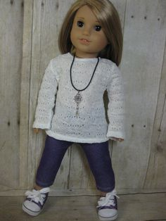 18 inch Doll Clothes American Girl Purple Jeggings by nayasdesigns