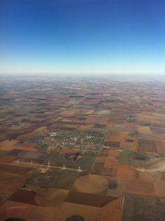 Lubbock, Texas from the air. Looks like a patchwork quilt.