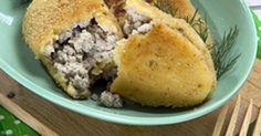 Рецепт Гороховые зразы Кукурузный Хлеб, Мясо, Еда