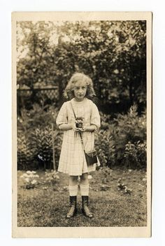 A little girl - probably early 1900s to early 1910s... snapshots by unexpectedtales