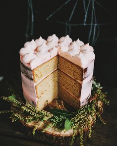 caramel mud-cake with buttercream frosting
