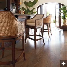 love these bar stools to match my tropical theme -- will have to look for something similar