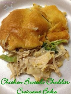 looks good for an easy dinner. Chicken Broccoli Cheddar Croissant Bake
