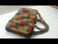 Easy To #Crochet Book Bag / Bible/Book Carrier #TUTORIAL #66 - YouTube
