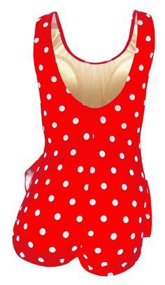 d9d6bfca03 Deep Blue Womens Red White Dot Front Sarong One Piece Plus Size Swimsuit -  Walmart.com