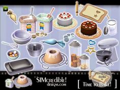 Funny Kitchen series - Time To Bake. More clutter for your sims ^^ Found in TSR Category 'Sims 3 Kitchen Sets' Los Sims 4 Mods, Sims 4 Game Mods, Sims Games, The Sims 4 Pc, Sims Four, Sims Cc, Maxis, Sims 4 Kitchen, Funny Kitchen