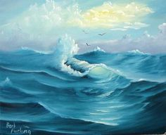 Turquoise Sea Seascape Oil Painting Painting