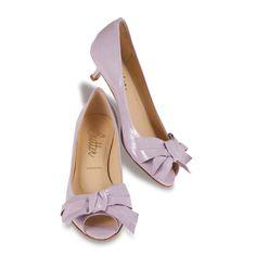 lavender kitten heel
