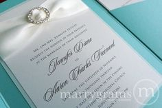 Tiffany Inspired Pocketfold Wedding Invitation Suite by marrygrams, $100.00