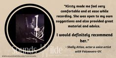 Here's what @shellyatton has to say about recording her #voicereel with Sounds Wilde