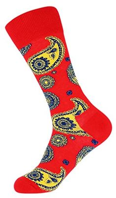 Sitn Men's Paisley Pattern Combed Cotton Crew Socks One Size (Red) Sitn http://www.amazon.com/dp/B00SF4YJOG/ref=cm_sw_r_pi_dp_s5Mwvb14D99KG