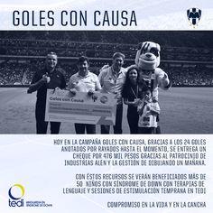 ¡Compromiso #EnLaVidayEnLaCancha! 😃👍⚽  Aquí la entrega del cheque protocolario de la campaña #GolesConCausa. #ESR