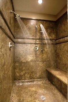 showers with benches without doors - Google Search