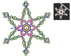 схемы снежинка сетка