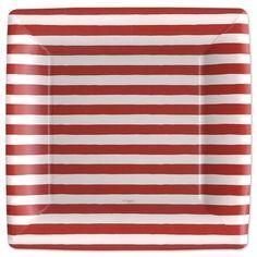 Stripes Dinner Plates - Caspari (