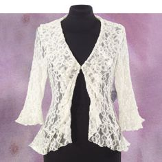 Ruffles and Lace Jacket