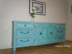Vintage+Chic+Hand+Painted+Sideboard+/+Buffet+by+VintageByReDesign