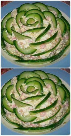 Cold Vegetable Salads Asian Tacos Salad Design Appetizer Salads Appetizers For Party Estonian Food Vinagrete Food Platters Hors D Oeuvre Food Carving, Good Food, Yummy Food, Food Garnishes, Veggie Tray, Vegetable Salads, Food Platters, Meat Trays, Meat Platter