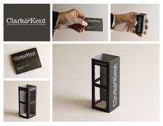 Unique Business Cards: The world's smallest ad agency operates in a phone booth. Fittingly, its business card is a photo booth!