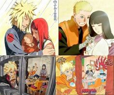 The Old and New Family Uzumaki Naruto Shippuden, Kakashi Hatake, Uzumaki Family, Naruto Family, Yamanaka Inojin, Familia Uzumaki, Naruto Images, Naruto Cute, Naruto Characters
