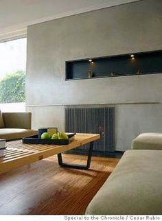 """Modern +""""Venetian Plaster"""" +fireplace Design Ideas, Pictures, Remodel and Decor"""