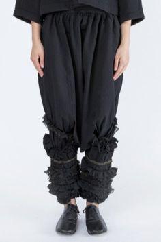 COMME des GARÇONS <br> Frill Drop Crotch Pants