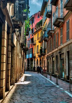 Take a stroll through the colorful streets of Milan