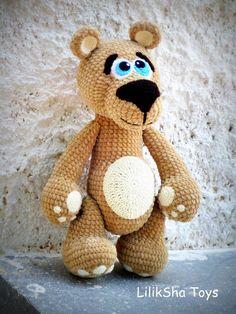 Crochet toy Amigurumi Pattern Big Velvet Bear. por LilikSha en Etsy