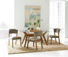 Paxton Collection Retro Dining Room Table 122171 Coaster